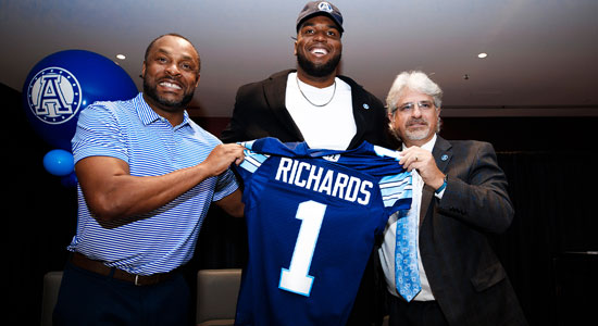 The Road Less Travelled Led Toronto Argonaut Shane Richards To The Top Of The CFL Draft